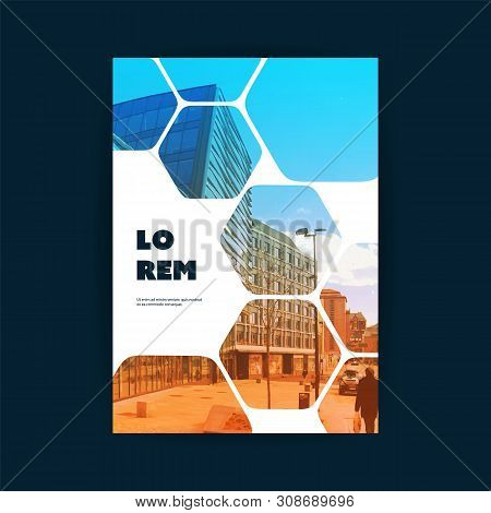 Business Flyer Or Cover Design With Urban Theme - Design Template