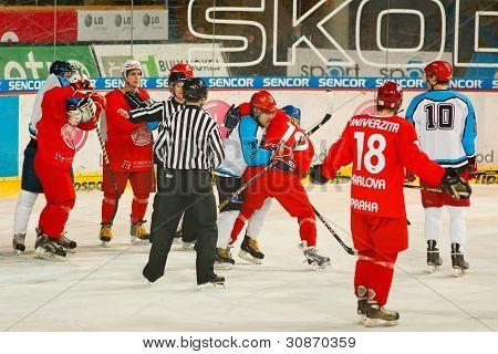 University hockey league final match