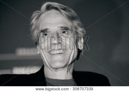 """Rome, Italy - June 16, 2019: Jeremy Irons Attends """"il Cinema In Piazza"""", Outdoor Cinema In San Cosim"""
