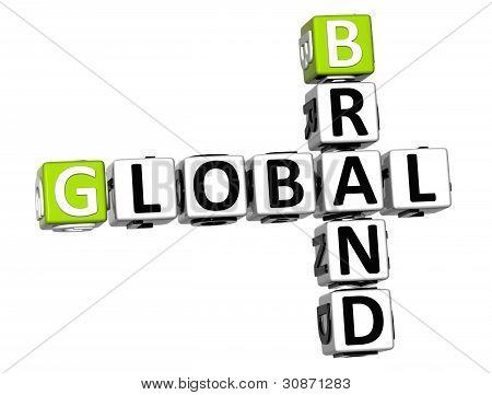 3D Global Brand Crossword Text