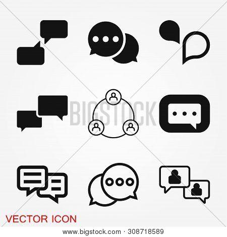 Comunication Icon. Data Comunication Icon Collection Icon Vector