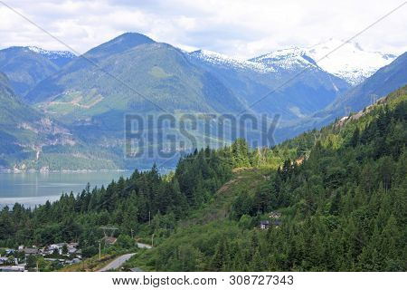 Mountains By The Howe Sound, British Columbia