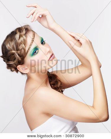 Woman With Creative Hairdo