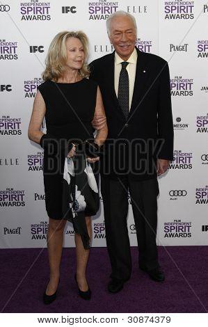 SANTA MONICA, CA - FEB 25: Christopher Plummer at the 2012 Film Independent Spirit Awards on February 25, 2012 in Santa Monica, California