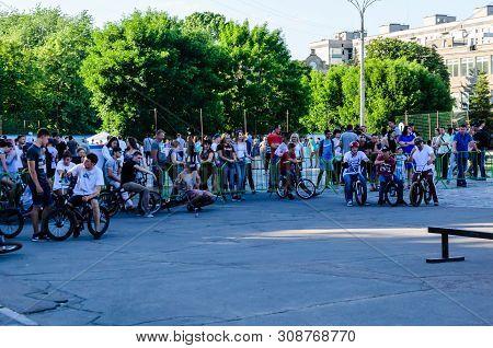 Kremenchug, Ukraine - June 05, 2017: Bmx Riders On A Festival Of The Street Culture