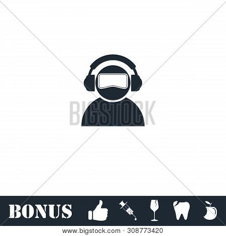 Meloman Icon Flat. Vector Illustration Symbol And Bonus Pictogram
