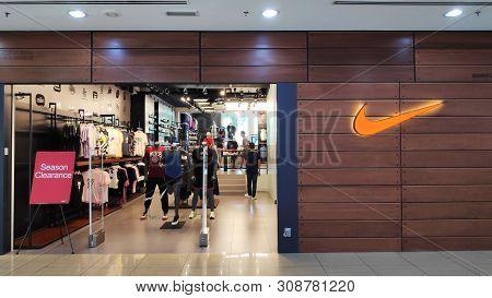 Melaka, Malaysia - 25 Jun, 2019: Nike Shop Located In Dataran Pahlawan Melaka Megamall, Melaka. Nike