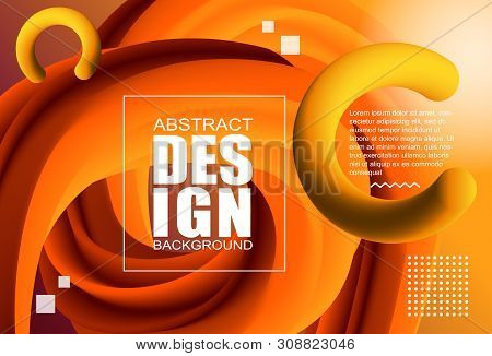 Abstract Modern Design 3d Flow Shape. Liquid Wave Backgrounds For Poster, Presentation And Web Banne