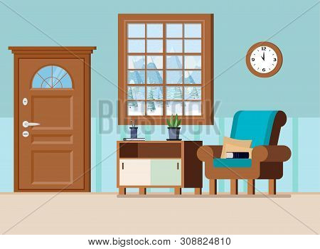 Strange Cozy Home Entrance Vector Photo Free Trial Bigstock Interior Design Ideas Gresisoteloinfo