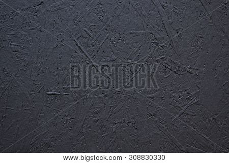 The Texture Of A Wood Splinter Pressed Wall, Painted Black - Osb Background