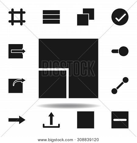 User Resize Grid Icon. Set Of Web Illustration Icons. Signs, Symbols Can Be Used For Web, Logo, Mobi