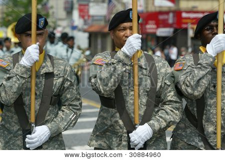 NEW YORK - MAY 29:  Members of the U.S. military march in the Little Neck/Douglaston Memorial Day Parade May 29, 2006 in Queens, NY.