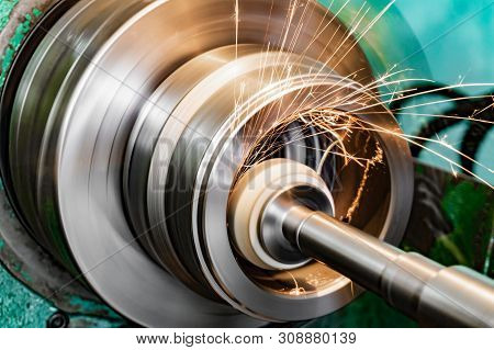 Metal Grinding, Internal Grinding With An Abrasive Wheel On A High-speed Spindle Of A Circular Grind
