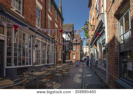 Coventry, Warwickshire, United Kingsom, June 27th 2019,  Historic Hay Lane Shopping Street