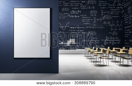 Modern Classroom With Poster