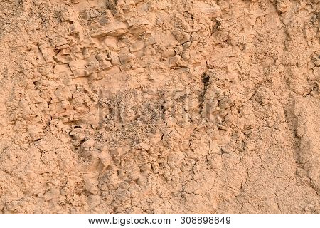 Wall Of Clay With A Huge Amount Of Small Crumbs