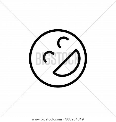 Laughing Emoji Outline Icon. Signs And Symbols Can Be Used For Web, Logo, Mobile App, Ui, Ux
