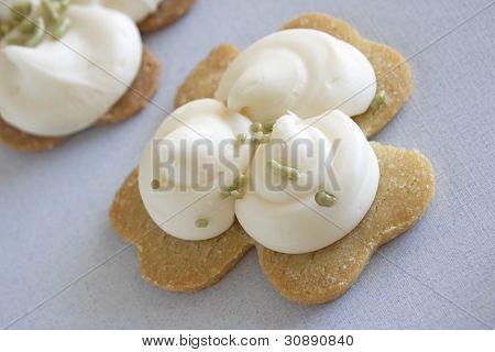 Shamrock Sugar Cookies