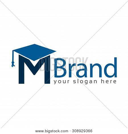 Graduation Logo Stock, Letter M, Education Logo