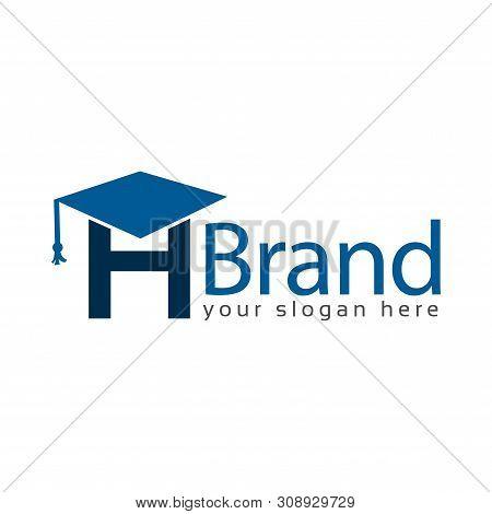 Graduation Logo Stock, Letter H, Education Logo