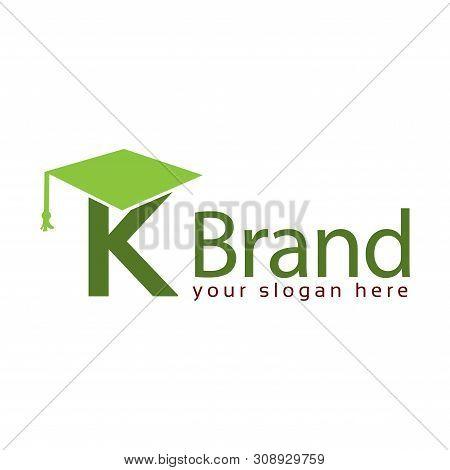 Graduation Logo Stock, Letter K, Education Logo