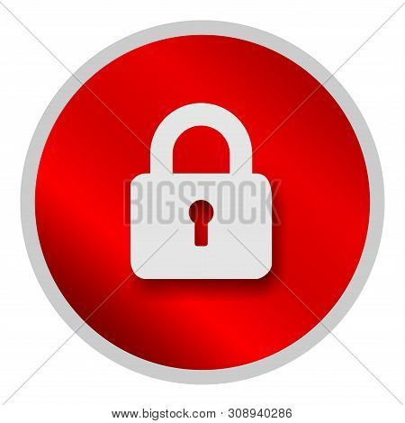 Save Download Preview Lock Icon Isolated On White Background. Lock Icon Simple Sign. Lock Icon Trend