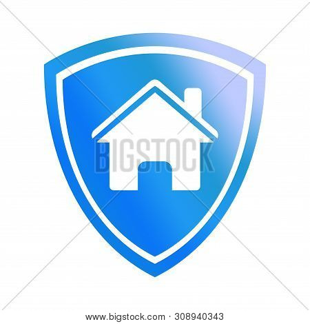 House Shield Icon, House Shield Icon Vector Isolated On White Background, . House Shield Icon Simple
