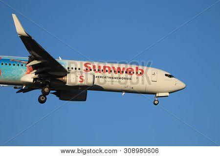 Amsterdam, The Netherlands - June, 29th 2019: Ph-hsj Transavia Boeing 737-800,