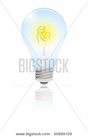 Mother's Day Light Bulb