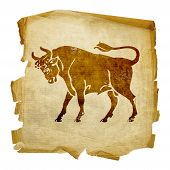 Taurus Zodiac Icon, Isolated On White Background.