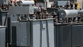 many electrical transformers to transform the voltage from high to low in the landfill depot poster