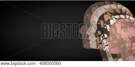 Multinational Society. Abstract Background For Your Design. Racial Tolerance Web Banner.vector