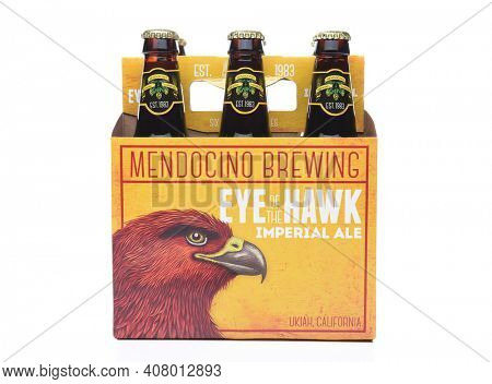 IRVINE,CA - SEPTEMBER 30, 2017: Eye of the Hawk Imperial Ale. From the Mendocino Brewing Company, in Ukiah, California.
