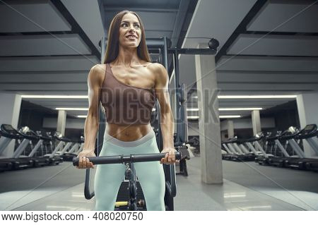 Fitness Woman Pumping Up Butt Ass Booty Legs Muscles Workout Fitness And Bodybuilding Concept Gym Ba