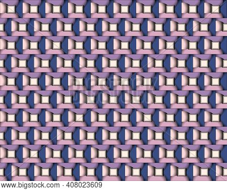 Geometric Pattern Illustration For Decoration In Gradient Purple And Pink Color, Background And Text