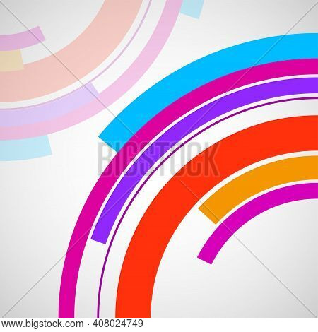 Abstract Background With Colorful Circles, Business Presentations, Banner. Vector Elements For Your