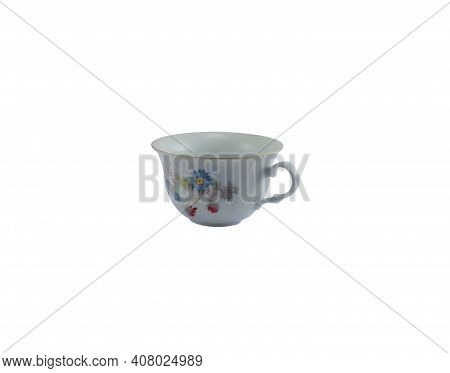 Romantic Style Teacup Isolated On A White Background
