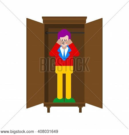 Coming Out. Gay In Coming Out Of Closet. Public Recognition Of Sexual Orientation