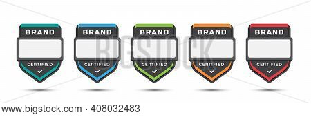 Certified Logo Badge For Company Brand, Gaming Levels, Corporate License, Training Criteria, With Sh