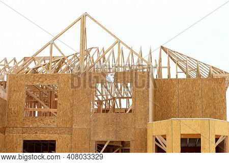 Wall And Rafters Of A Plywood House New Workplank