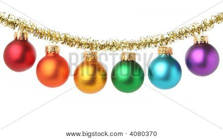 Multicolored Chrismas Baubbles