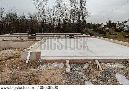 Foundation For A New Home Concrete Site Work Build