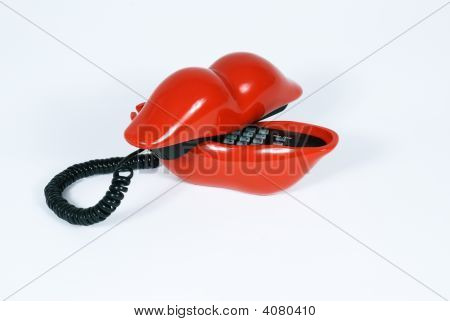 Red Lip Phone Side