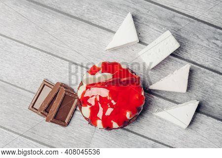 Cake Red Velvet Sweets Dessert Discrepancies Snack For Tea
