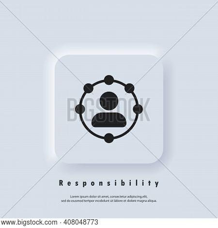 Responsibility Icon. Professional Roles Icon. Functions, Responsibilities And Duties Of Professional