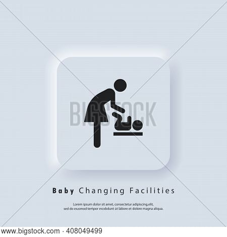 Baby Changing Facilities. Toilet Room For Mothers With Kids. Mother And Child Icon. Baby Changing Ro