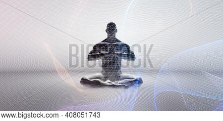 Spiritual Energy Abstract Background Healing Concept Art 3d Render