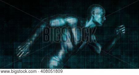 Futuristic Web Cyber Data Grid Color Background 3d Render