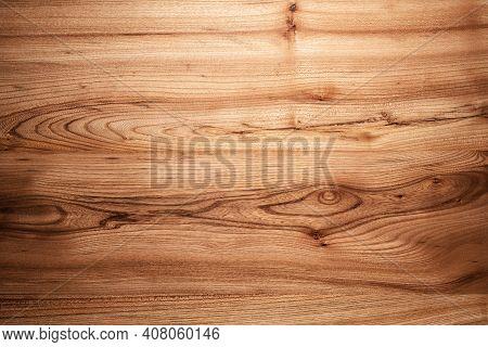 Natural Brown Wood Texture Elm Close Up