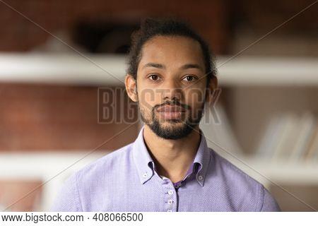 Headshot Portrait Of African American Male Employee